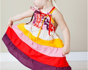 Clara Tiered Twirl Dress: Girls Sun Dress PDF Pattern, Baby & Toddler Sun Dress PDF Pattern