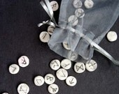 Miniature Rune Set Elder Futhark clay stones divination fortune telling clairvoyance new age psychic