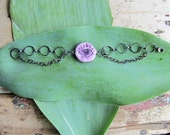 wiccan bracelet third eye with amethyst psychic evil eye wiccan wicca pagan magick metaphysical new age jewelry one of kind handmade ooak