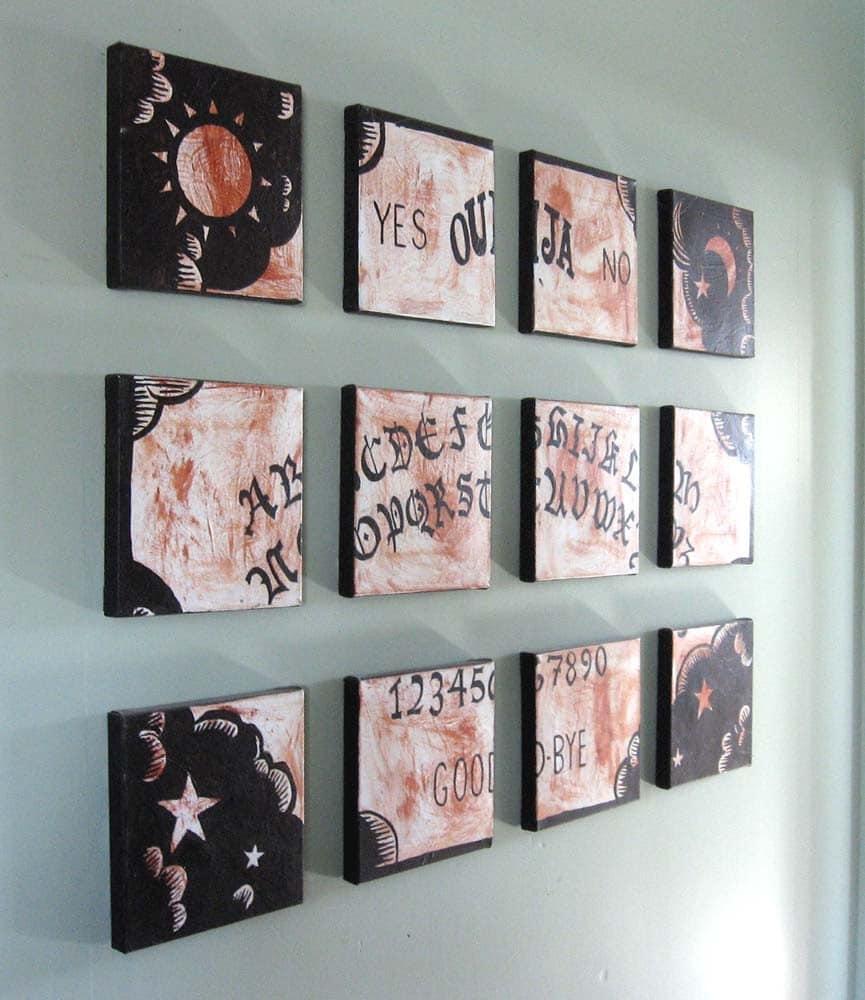 Ouija Board Painting Ouija Board Wall Art Original Painting