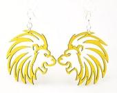 Lions - Laser Cut Wood Earrings