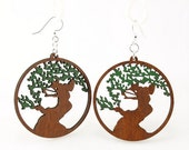 The Tree of Life Earrings - Laser Cut wooden Earrings