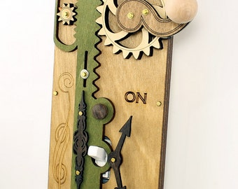 Single Rack and Pinion Light Switch Plate - Earth Tone Colors