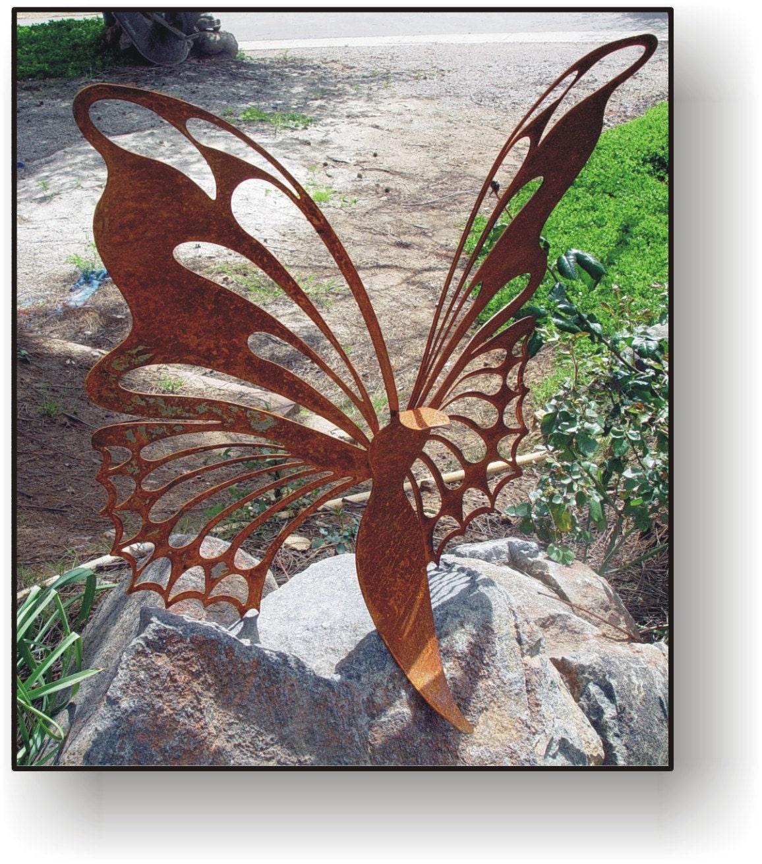 Butterfly 24 metal art sculpture garden art by ... on Backyard Metal Art id=82813