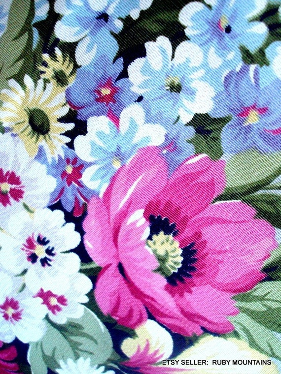 Antique Floral Panel Fabric for Curtains Pillows Upholstery