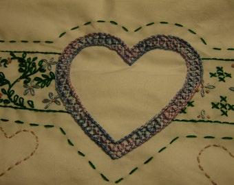 Hearts Flutter Pillowcase Set - Standard