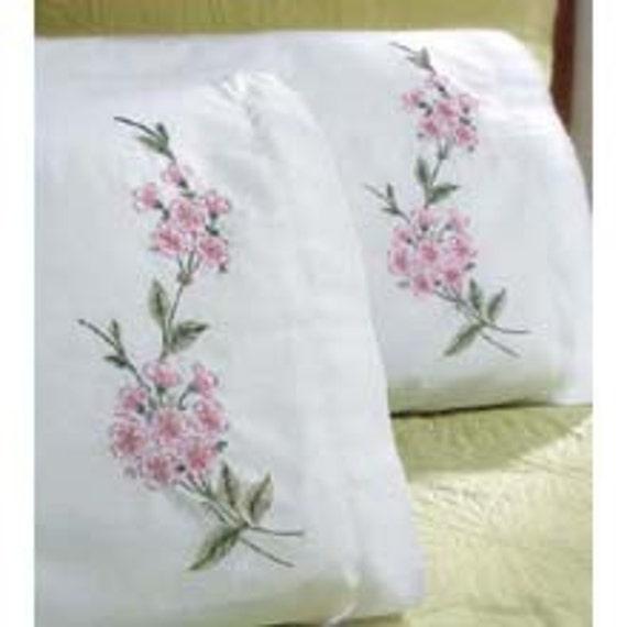 Blossom Pillowcase Set - Hand Embroidered- Standard