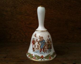 Vintage English ceramic Christmas bell in original cox circa 1980's / English Shop