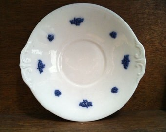 Vintage English sandwich plate saucer blue and white Foley circa 1940-50's / English Shop