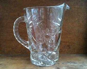 Vintage English Lemonade Glass Pitcher / English Shop