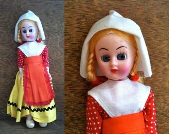 Vintage English pretty blue eyed Dutch display doll circa 1950's / English Shop
