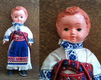Vintage English display doll folk boy circa 1950's / English Shop