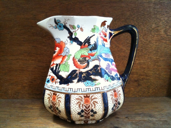 Vintage English Keeling Shanghai Jug with repaired Spout circa 1910-20's / English Shop
