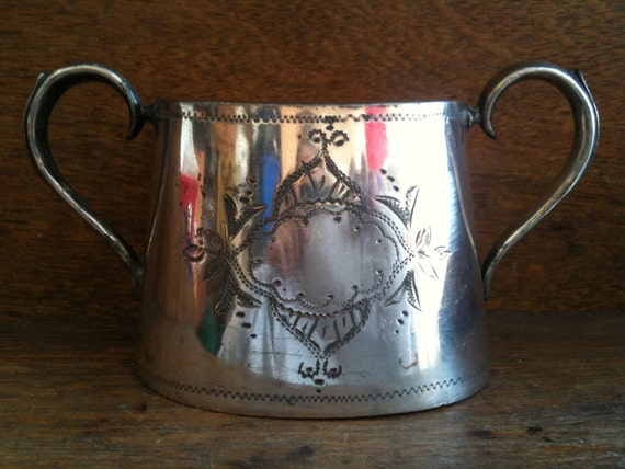 Vintage English Silver Fancy Sugar Pot / English Shop