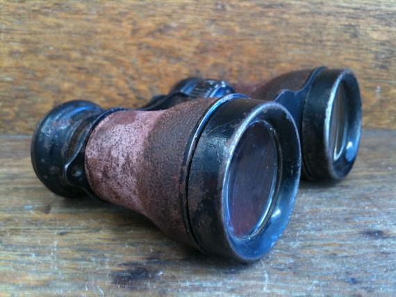 Antique German Leather Binoculars