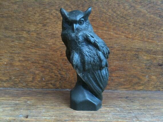 Vintage English Owl Figurine / English Shop