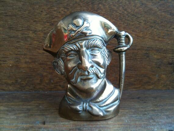 Vintage English Pirate with Skull and Crossbones Hat Mug Pot Vase circa 1950's / English Shop