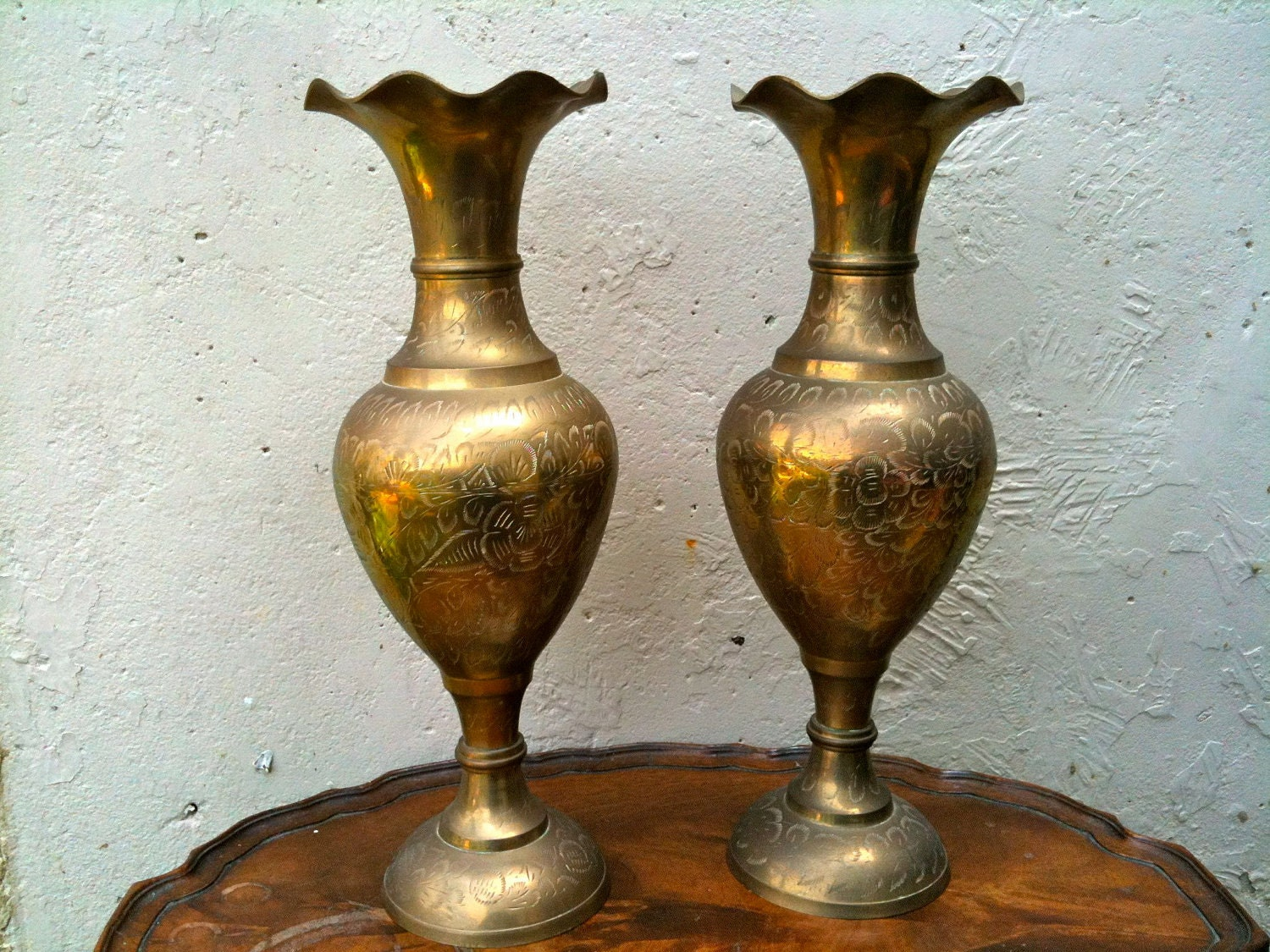 Antique brass vases pictures to pin on pinterest pinsdaddy vintage reviewsmspy