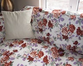 clearance sale Floral Sofa throw cover -couch coverlet, large, linen sofa throws, pet lover, furniture protectors  Nurdanceyiz Turkey-shabby