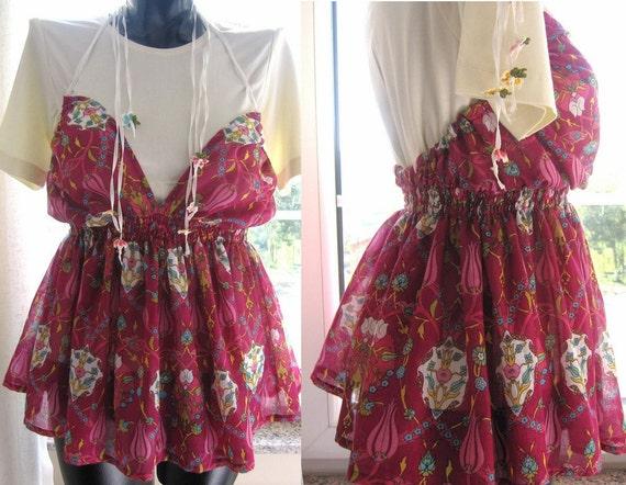 Halter top, swimwear, swimsuit coverup,Ottoman Floral print Jumper, beach dress-Anatolian scarf -bohemian gypsy Turkish cotton gauze