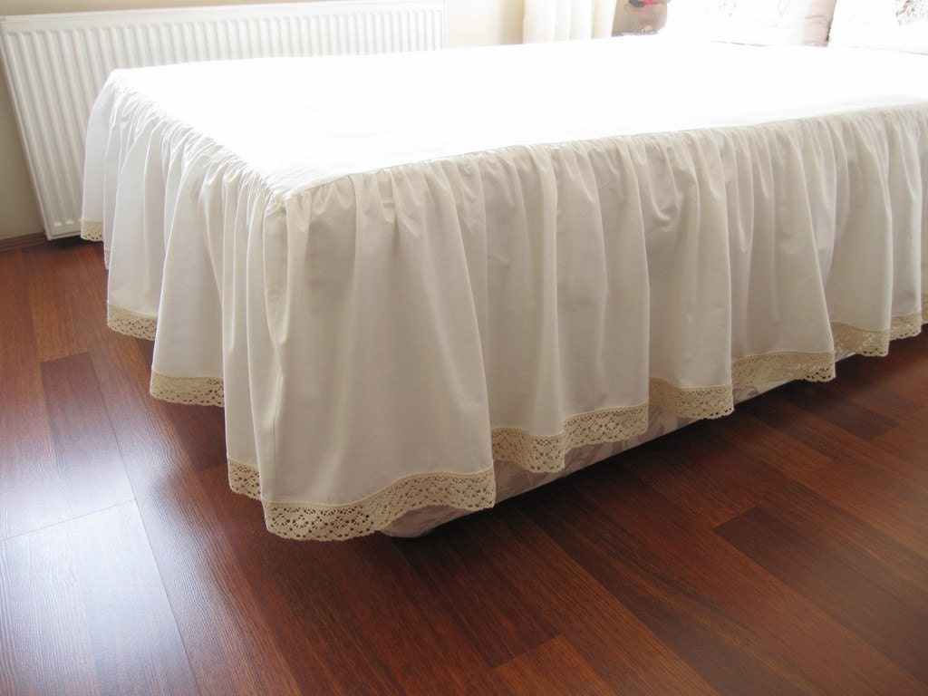 Twin Size White Bed Skirt