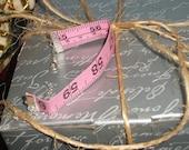 Pink Measuring Tape Bracelet- Adjustable Size