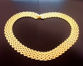 Goldtone Collar Necklace - Free Shipping