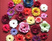 Flower Hair Clips - 25 Assortment of Large Hair Flowers, Colorful, Wholesale Gift, Wholesale Hair Flowers