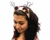 Antlers - Woodland Celtic Princess Antler Headband.  Deer Antlers, Antler Headdress, Woodland Flower Girl, Fashion