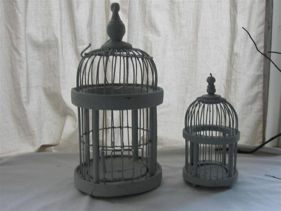 Birdcage Wire & Wood Dome Birdcages Vintage Bird Cages Dome Bird Cages