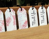 Thank You Pink and Purple Modern Floral Gift Tag Set