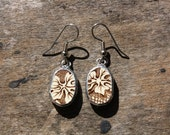 Antique China Earrings - Handmade from Antique Broken China from England - Lovely and Unique