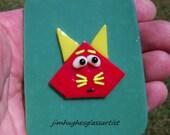cool cat glass magnet