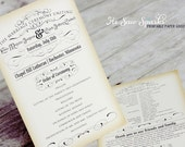 Vintage Ceremony Program - Printable - DIY - The Timeless Suite