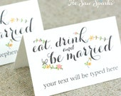 Editable Place-card Template - Printable DIY - Amore Collection