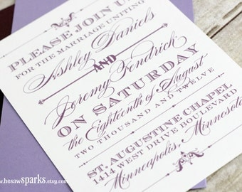 Printable Wedding Invitation - The Devotion Suite