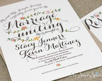 Printable Wedding Invitation - The Amore Collection