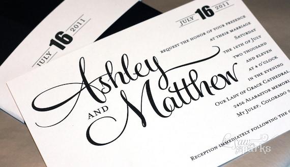 Printable Wedding Invitation - DIY - Ashley Suite