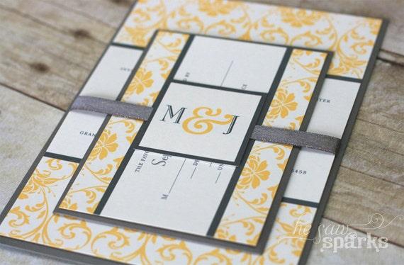 DIY Printable Invitation - Floral Damask - Choose your colors