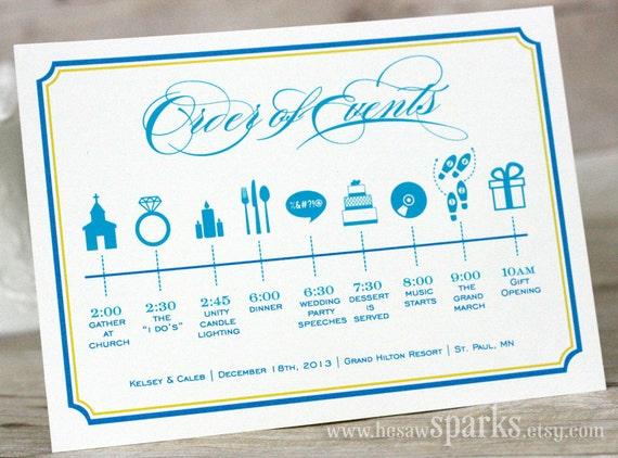 Custom Wedding Timeline (Printable) DIY