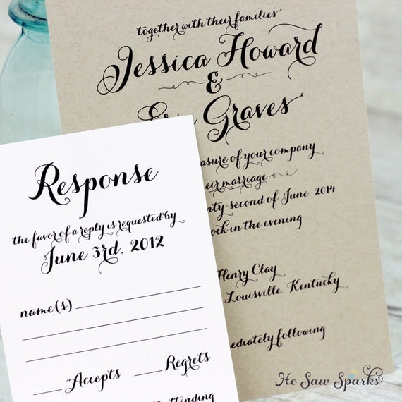 Printable Wedding Invitation - The Simply Country Collection