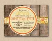 Rustic Bridal Shower Invitations - Mixed Type Printable Invitations