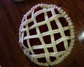 A Crocheted and Knitted Cherry Pie Beret