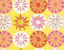 SALE 1 Yard - Kumari Garden Yellow w/ Flowers by Dena Designs for Free Spirit