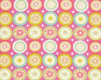 "LAST PIECE 1 Yard 21"" of Kumari Garden Small Pink Floral  by Dena Designs for Free Spirit"
