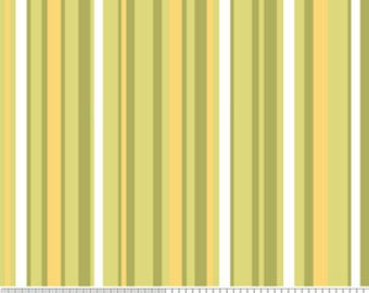 SALE 1 Yard -  Decadence Green Stripe by Samantha Walker for Riley Blake Designs