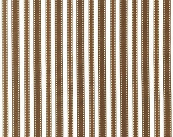 1 Yard Cocoa Stripe Pimatex for Robert Kaufman