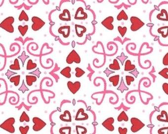 1 yard Always Forever White Chocolate Valentine Motif by Deb Strain for Moda