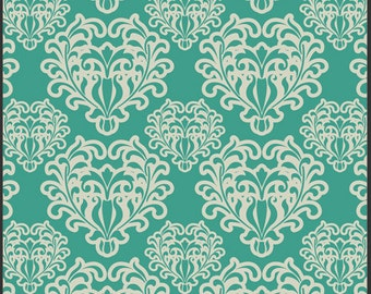"1 Yard 14"" Teal Passionate Spirit from the Summerlove Collection  by Pat Bravo for Art Gallery Fabrics"