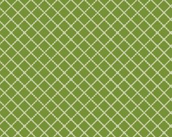 1 Yard of Knock Knock Green Diamonds by Dana Brooks for Henry Glass